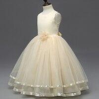 4-12Y Teenager Mädchen Prinzessin Kleider Blume Bogen Spitze Kinder Kleid Taufe Hochzeit Kleid für Mädchen Kleidung Kinder Vetido