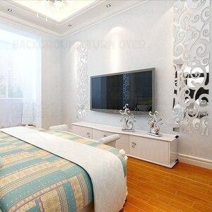 Image 3 - Espejo decorativo 3D con diseño creativo de nubes, pegatinas de pared, decoración de pared de TV, sala de estar y dormitorio, arte para el hogar R123