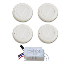 Hot Selling Smart Home Lamp Light LED Bulb Remote Control Switch Wireless Wall Pannel Transmitter Key Input Output RF Receiver