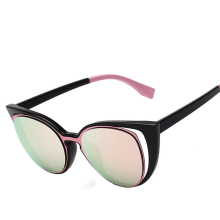2017 Sexy Women Famous Brand Designer Cateye Sunglasses Women's Cat Eye Sun Glasses Female Pink Mirror Shades Ukraine with box d