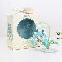 4'' 10cm Nendoroid Hatsune Miku #493 Snow Miku Snow Bell Ver. PVC Action Figure Collectible Model Toy