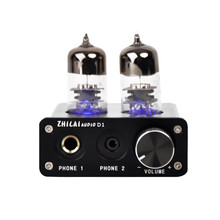 Date D'origine ZHILAI D1 MINI HIFI Casque Amplificateur Tube Preamp USB Audio Amplificateur de Puissance Puce 7022/2704 AMP 16bit/24bit