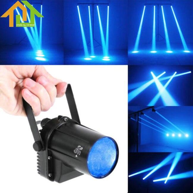3W Blue LED Beam Spotlight Dance Party DJ Bar Spin Stage Light Pinspot Lights3W Blue LED Beam Spotlight Dance Party DJ Bar Spin Stage Light Pinspot Lights