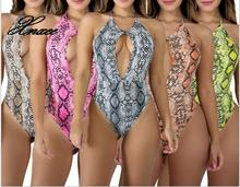 цены на 2019 Sexy Playsuit Casual One Piece Bodycon Shorts Rompers Womens Jumpsuit Streetwear Snakeskin Party Bodysuit  в интернет-магазинах