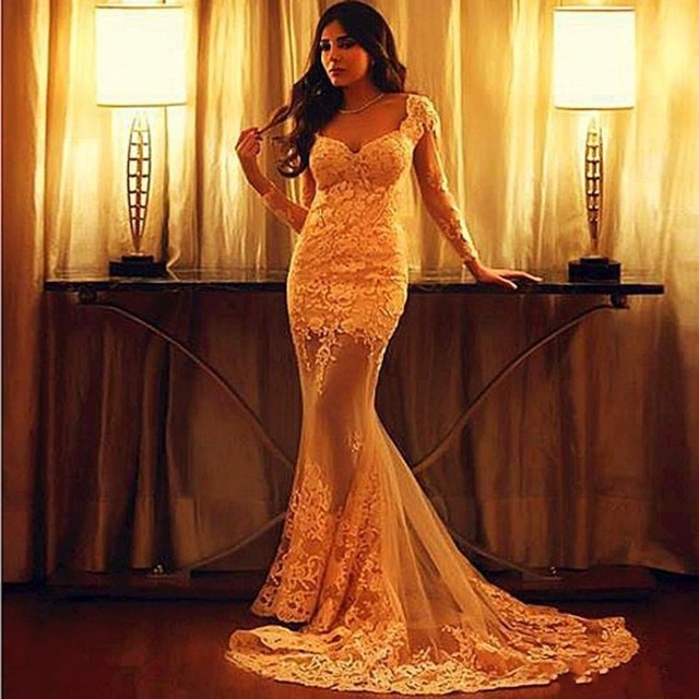 Wedding dresses plus size mermaid prom