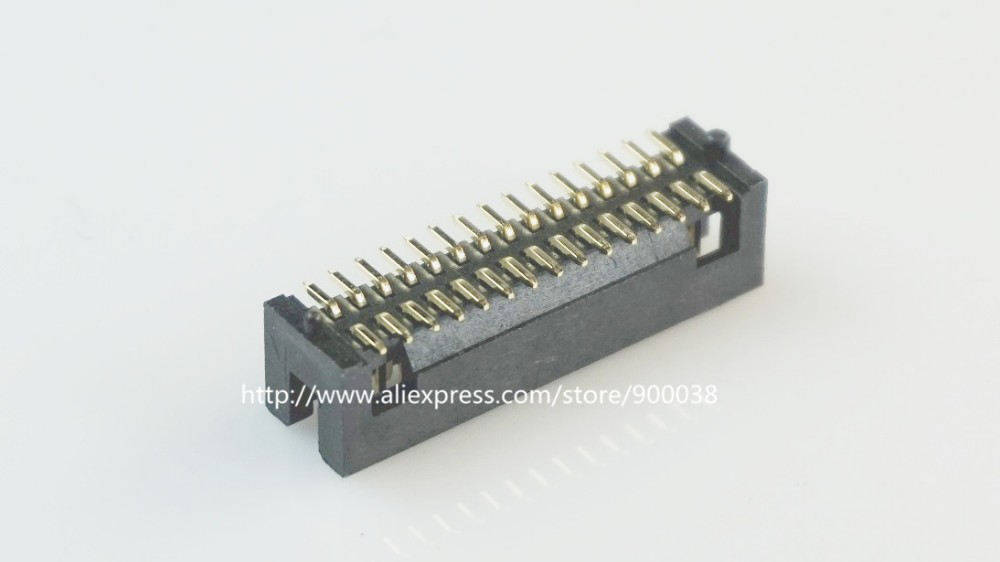 50 Pcs SMT Box Header 1.27mm 2x15 P 30 Pin dual row with locating peg post Straight Male Pins surface mount <font><b>SMD</b></font> PCB image