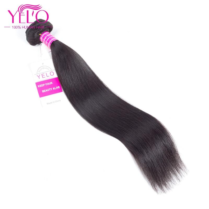Los paquetes peruanos del pelo liso del pelo de Yelo ofrecen - Cabello humano (negro)