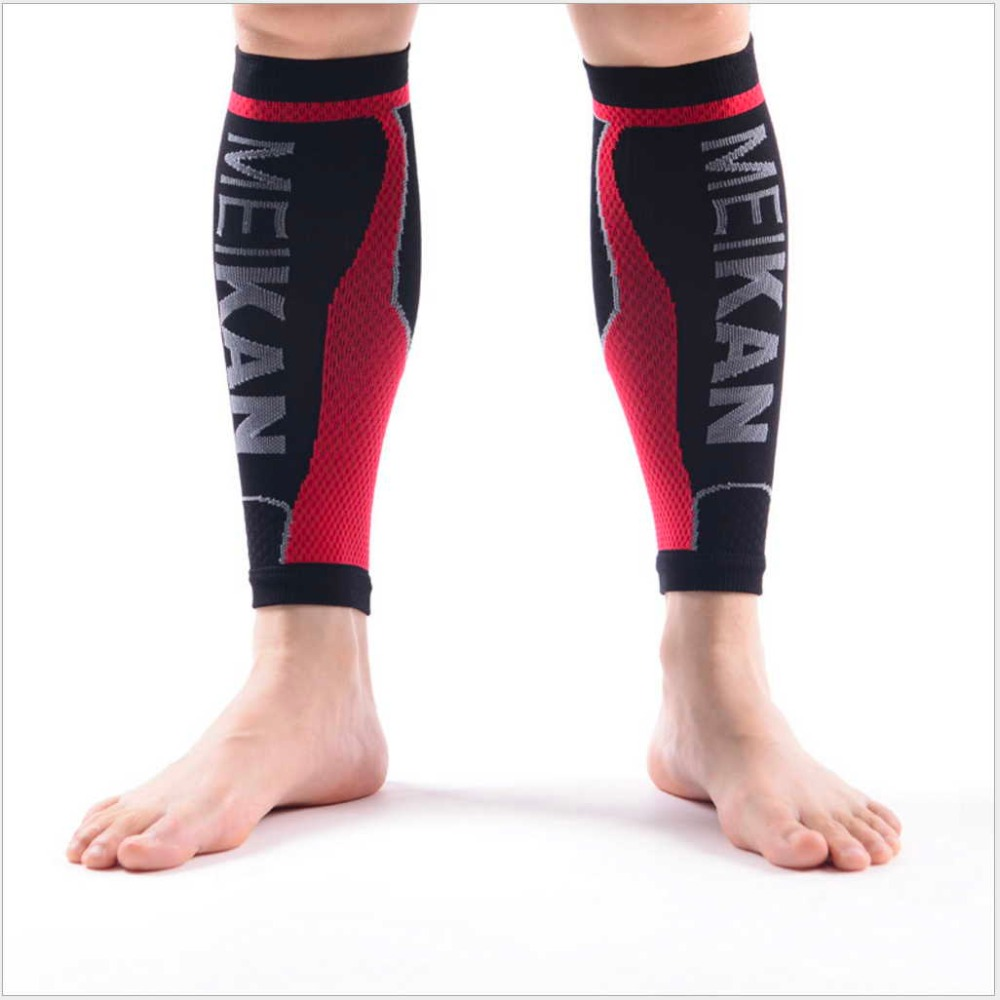 1 Pair Stabilize Muscles Running shins guard Energy Compression Jogging Calf Sleeve Soccer basketball  Crus Protective