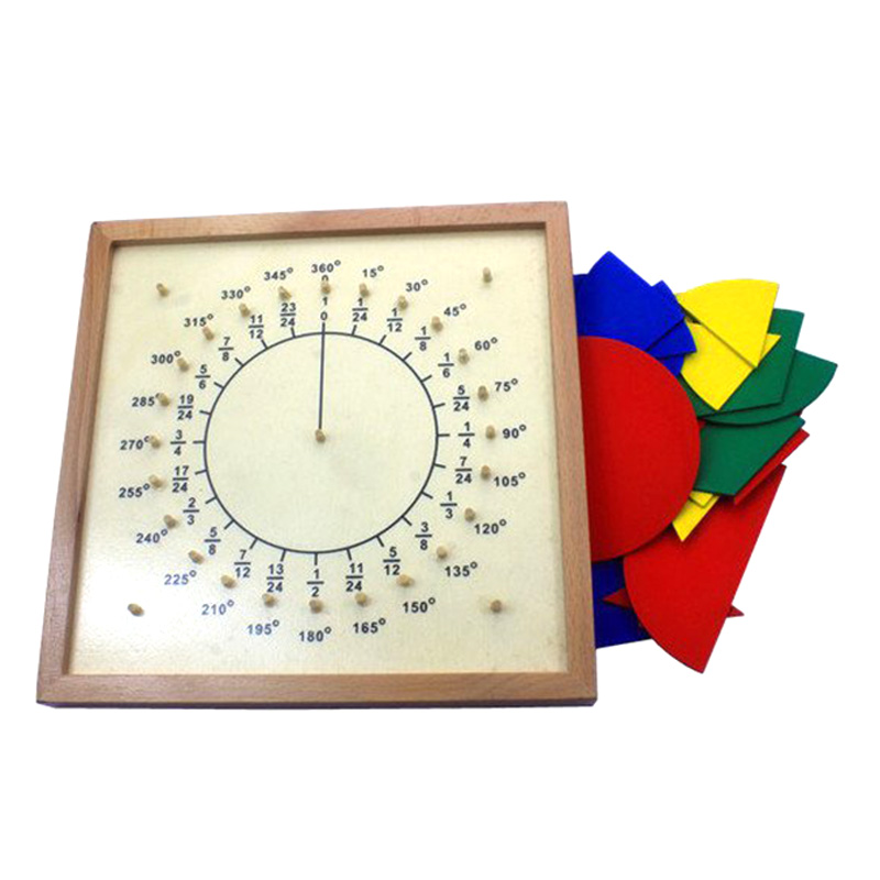 New Baby Toys Circular Mathematics Fraction Divide Teaching Kids Montessori Board Wooden Toys Child Educational Gift Math Toy