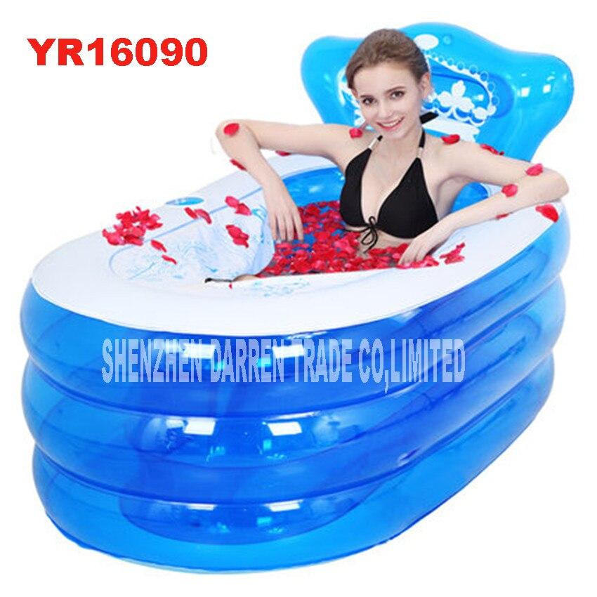 YR16090 baignoire de toilette portable pour adultes adulte en plastique gonflable baignoire gonflable pliable gonflable SPA 160*90*75 cm