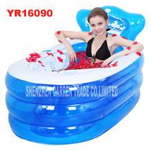 YR16090 bärbar toalett badkar för vuxna vuxen plast uppblåsbara bad uppblåsbar hopfällbar inflavel SPA 160 * 90 * 75cm