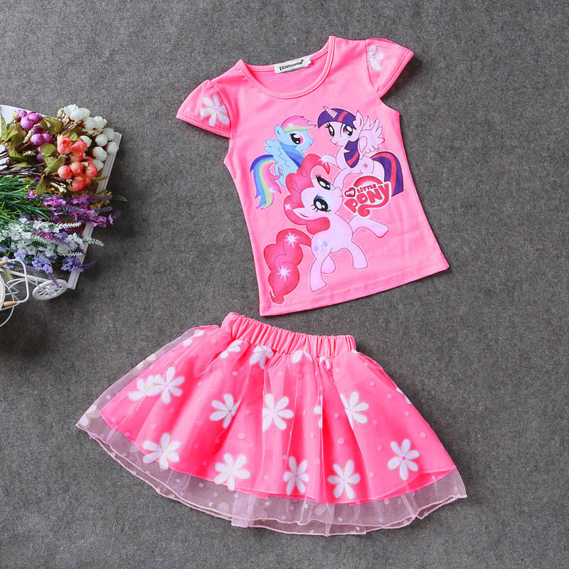 KEAIYOUHUO-Summer-Toddler-Girls-Set-Baby-Kid-Princess-Clothes-Children-Cartoon-Party-pony-lace-dress-cotton-T-Shirt-Skirt-Suit-1