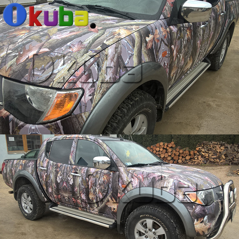 Mossy Oak Graphics Camo Vinyl Decals Truck Wraps Real Leaf