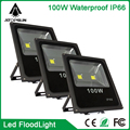 10pcs Ultra Thin Led Flood Light 100W White/Warm White IP65 Outdoor Floodlight Black Led Bulb Spotlight Garden Light Exterior
