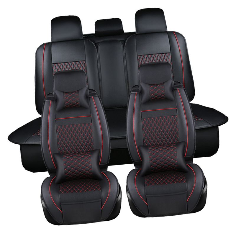 PU Leather Automotive Universal Car Seat Covers t-shit Fit seat cover accessories for kia aio ford focus 2 lada granta Toyota Toyota Land Cruiser