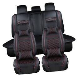 PU Lederen Automotive Universele Auto Stoelhoezen t-stront Fit seat cover accessoires voor kia aio ford focus 2 lada granta Toyota