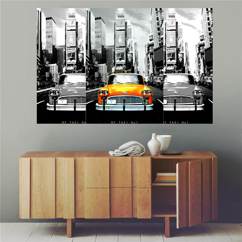 Poster New York Taxi.Custom Canvas Print New York Taxi Poster Cloth Wall Silk Fabric