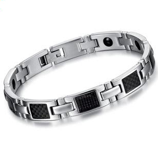 JEWELRY Fashion Gift Magnetic Bracelet Stone Inlay Health Balance STAINLESS STEEL MEN BRACELET Healthy Men Jewelry, n3356
