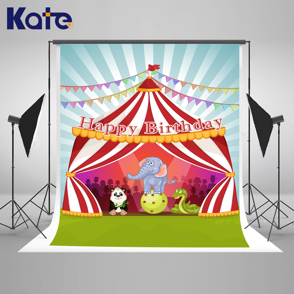 KATE Photo Background Children Photo Background Children Birthday Photos Cartoon Circus Backdrop Banner Backgrounds for Studio circus banner party backdrops vinyl cloth computer printed children photo background circus