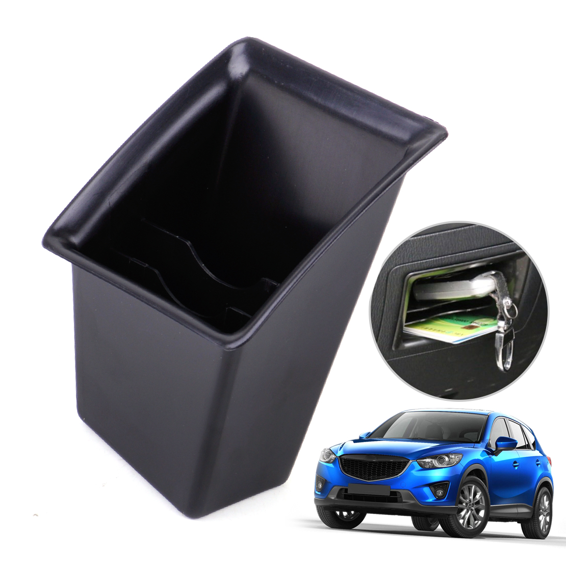 DWCX New Car Black Left Central Control Storage Box Auto Container Holder Shelf Fit for Mazda CX5 2011 2012 2013 2014 2015 цена 2017