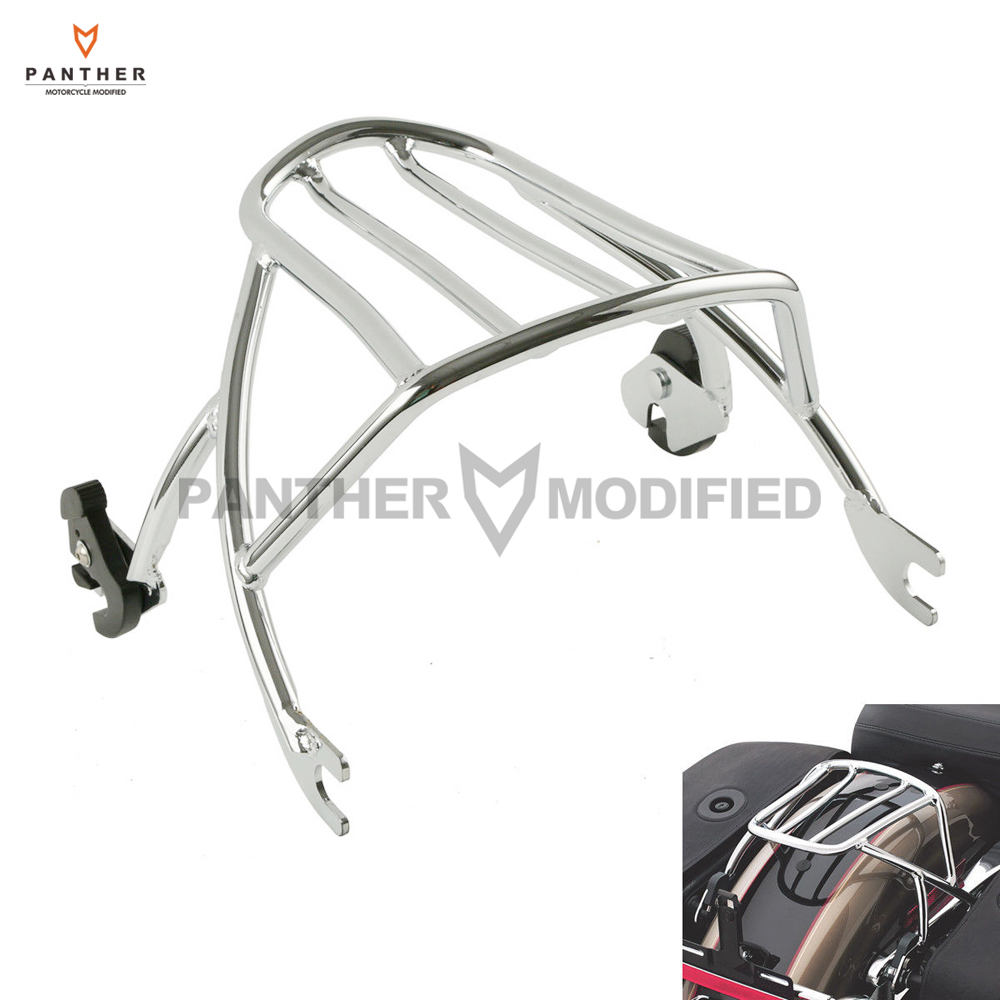 Chrome Motorcycle Solo Luggage Rack Case for Harley Sportster XL 1200 Iron Seventy Two 883 2004-2017 partol black car roof rack cross bars roof luggage carrier cargo boxes bike rack 45kg 100lbs for honda pilot 2013 2014 2015