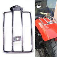 Beler New 1Pc Silver Motorcycle Seat Luggage Shelf Carrier Support Rack Fit For Harley Davidson Sportster