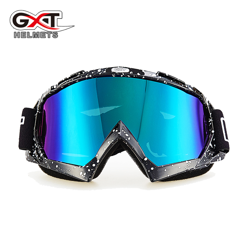 GXT Ski Goggles Motocross Glasses Motorcycle Glasses Vintage Motorcycle Racing Eye wear Skiing Snowboard Glasses