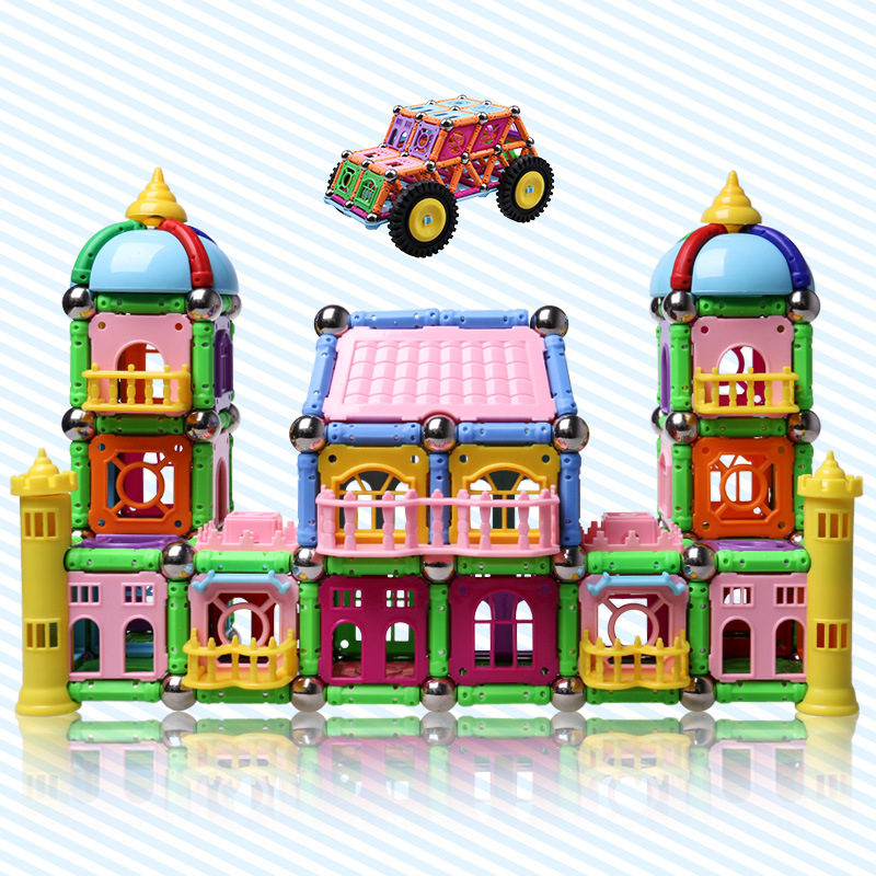 268PCS magnet toy building kit DIY series intelligence toy set teaching manual construction magnetic block combination