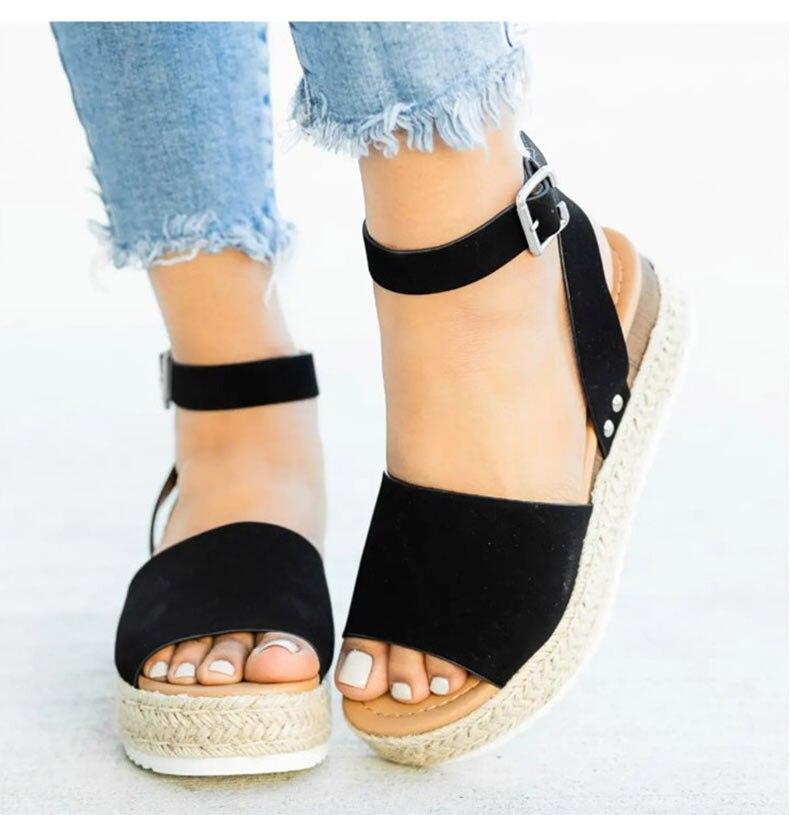 Women High Heels Sandals Summer Shoes Flip Flop Chaussures Femme Platform Sandals 21