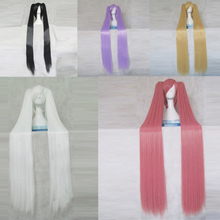 Hidan no Aria Kanzaki H Aria Peluca de pelo sintético largo de 120CM para Cosplay, peluca de fiesta, 2 coletas y gorro para peluca, color rosa