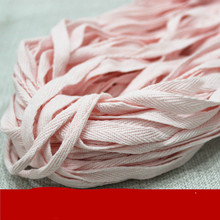 1CM Colored cotton belt, pure  ribbons, woven straps and tapes.