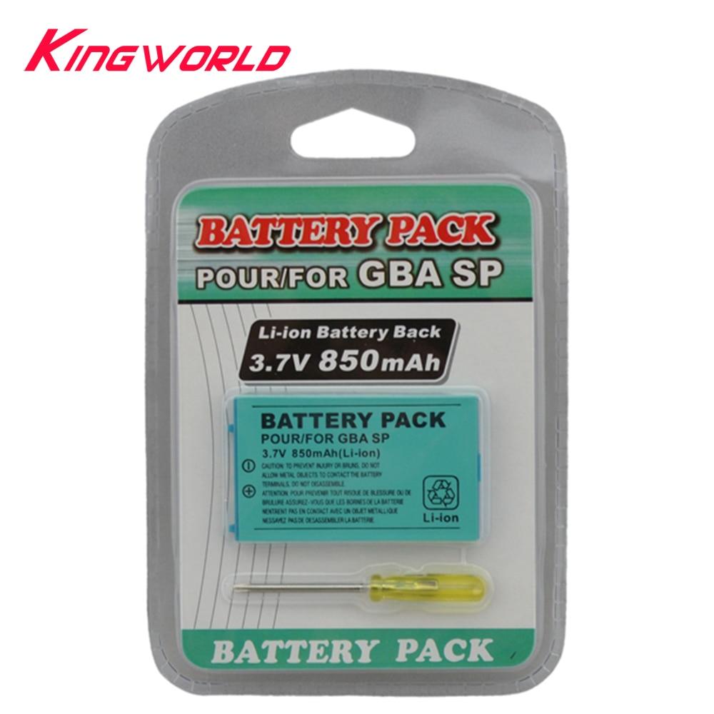 Batterie Rechargeable Li-ion 3.7 V 850 mAh pour Console G-BA SP avec tournevis à démonter