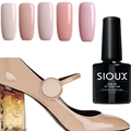 SIOUX 8ML nude color Series UV Nail Gel Polish Shiny Glitter Nail Gel Soak Off Sequins Gel Lacquer Long Lasting Gel