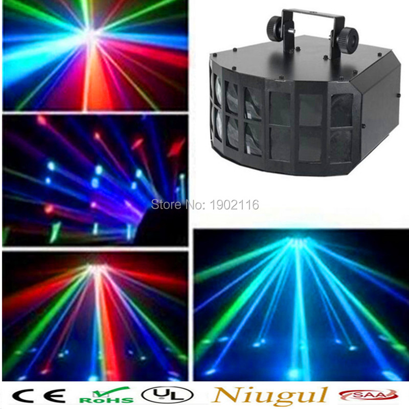 Free shipping Night club decoration 4in1 LED 30W Mini LED Double Butterfly Effect Light christmas decoration ktv dj party lights