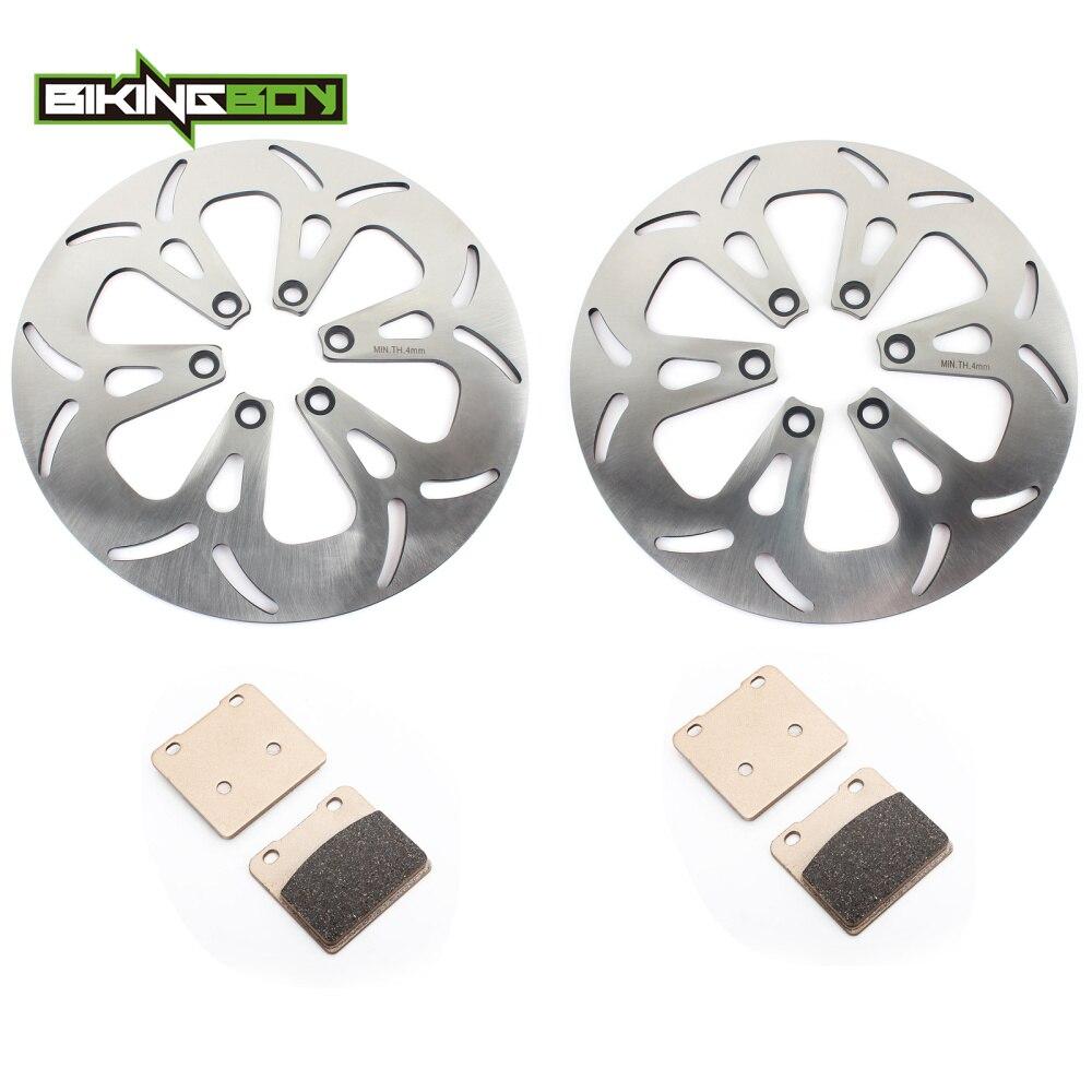 BIKINGBOY Front Rear Brake Discs Disks Rotors Pads For Suzuki VS 1400 Intruder 87 04 03