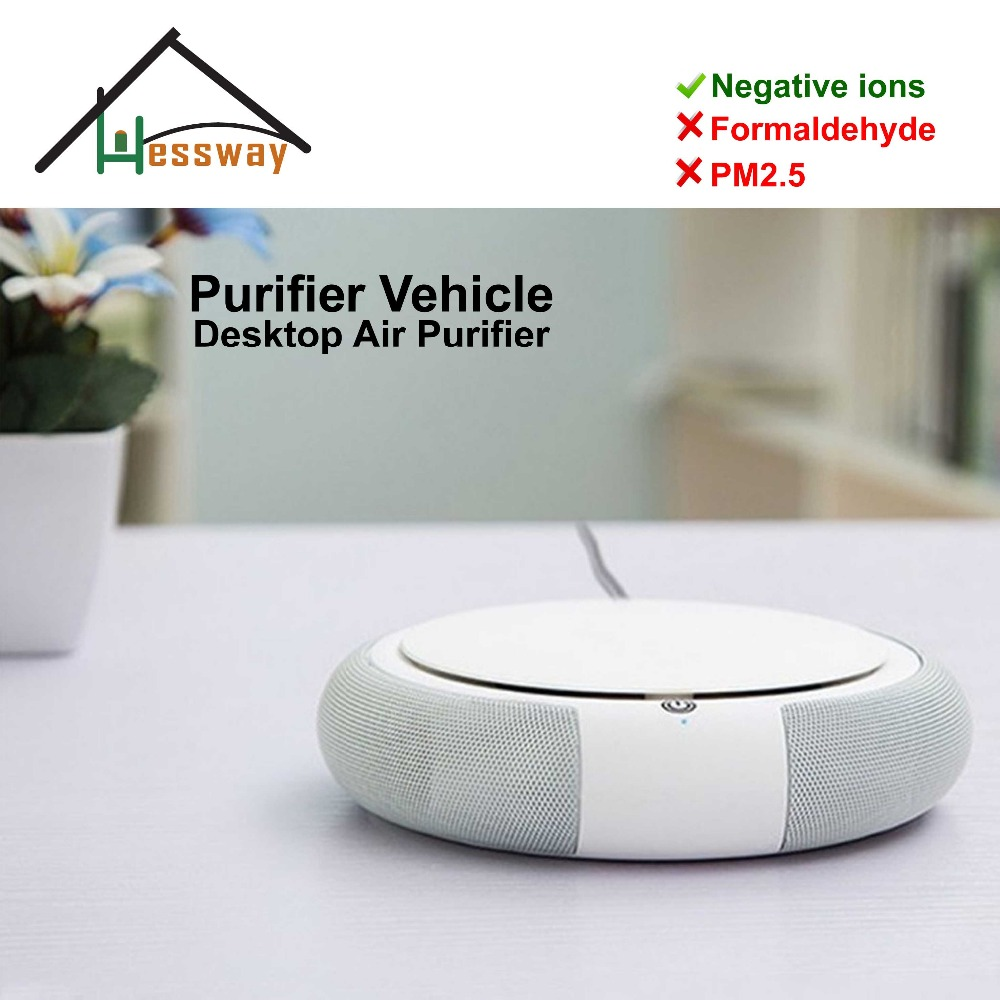 Portable desktop car air purifier Remove Formaldehyde Cigarette Smoke Odor with air ionizer kj210g c42 air purifier in addition to formaldehyde secondhand smoke wifi intelligent control mute ionizer