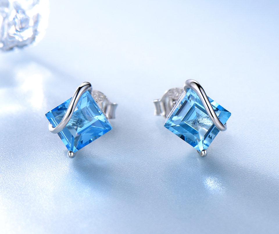 natural swiss blue topaz earrings for women (2)