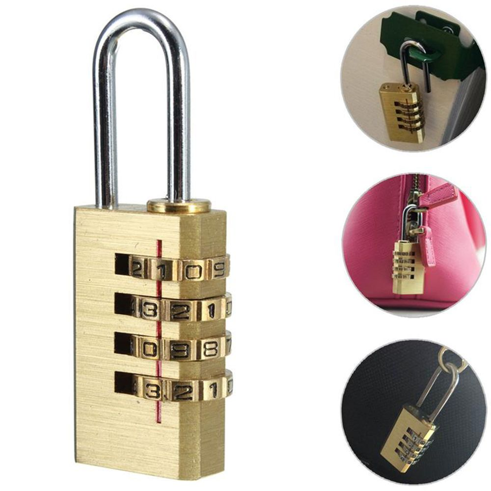 Portable 4 Dial Digit Password Lock Combination Suitcase Luggage Metal Code Password Lock Padlock free shipping free shipping security smart portable fingerprint padlock luggage lock bag drawer lock