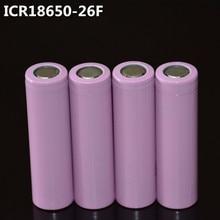 Recarregável para Lanterna 4 Pçs e lote 18650 Betteries Bateria Led 100% Original Icr18650-26f 2600 Mah Li-ion 3.7 V
