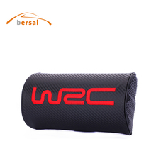 Carbon style Car Soft neck pillow Seat headrest WRC Car styling for Honda Mitsubishi Ford Abarth 500 Toyota Kia Seat accessories 2017 new style car styling car tail decoration for new beetle toyota avensis peugeot touareg kia ceed seat ibiza accessories