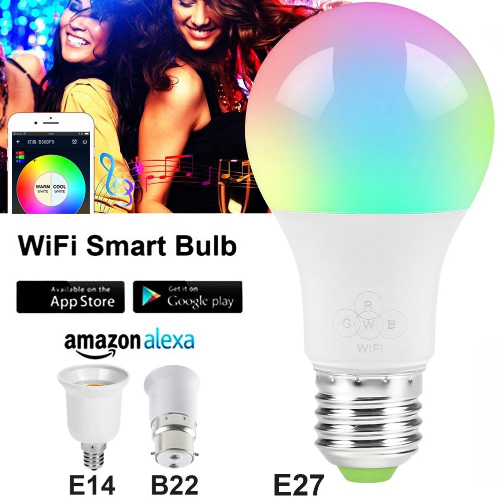 Consumer Electronics Charitable Smart Wifi Bulb E27/e14/b22 Rgbw Dimmable Led Bulb Light Bulb Works With Alexa Google Home,16 Million Colours App Remote Control Hot Sale 50-70% OFF Smart Electronics