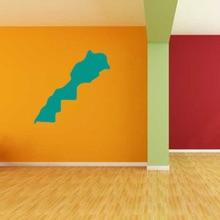 Morocco map Globe Earth Country wall vinyl sticker custom made home decoration fashion design