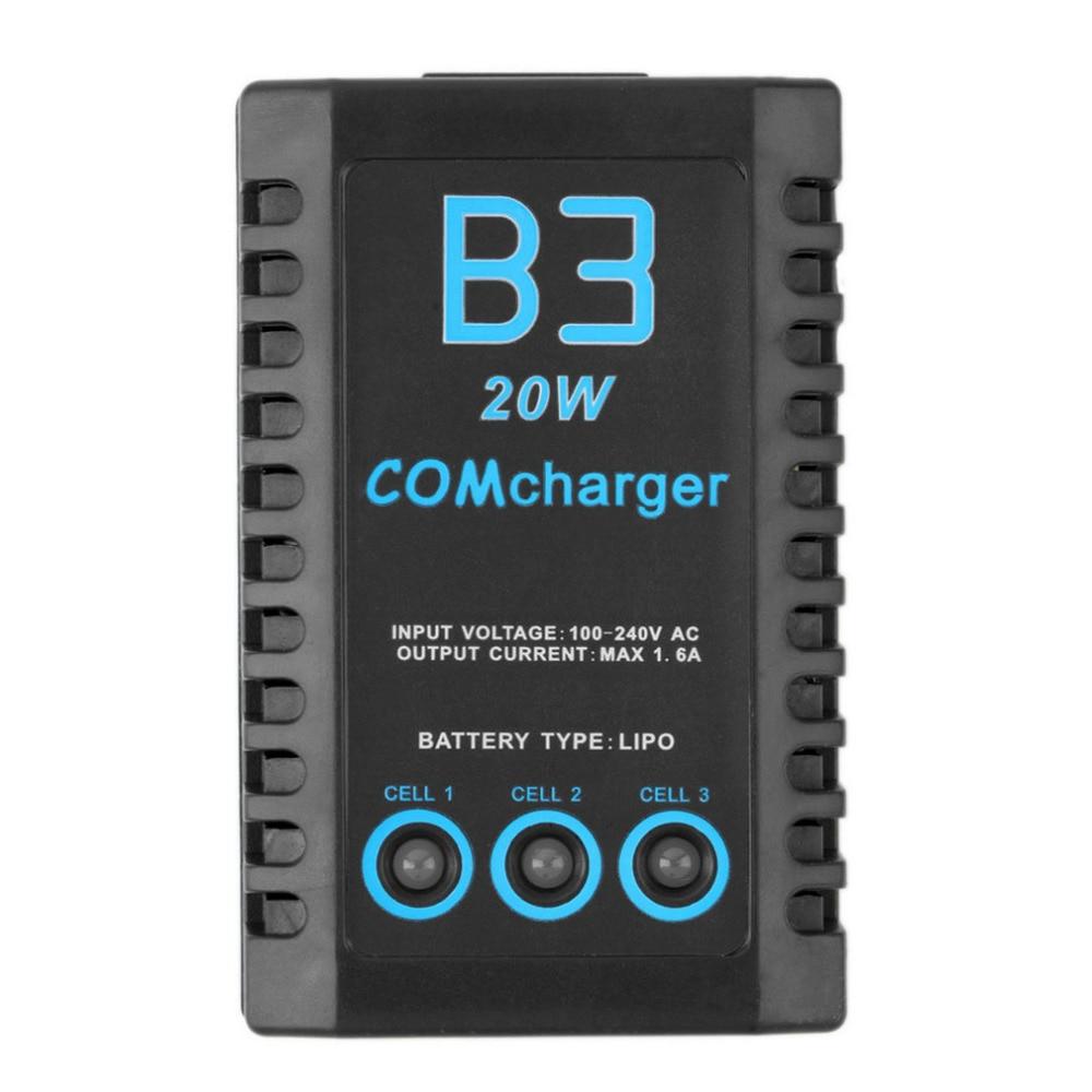 ФОТО imax rc b3 20w 1.6a compact portable battery balance charger for 2s-3s li-po
