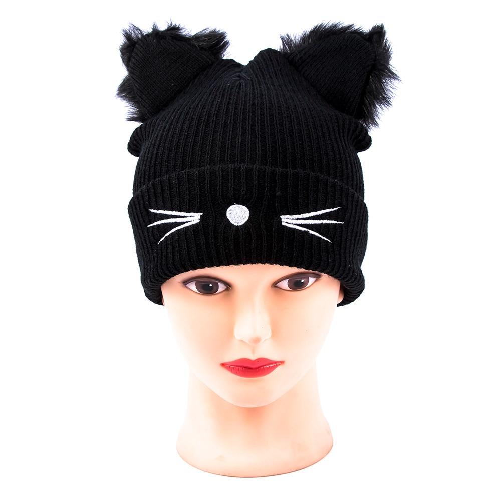 Cat Ear Hat Knitting Pattern Custom Decoration