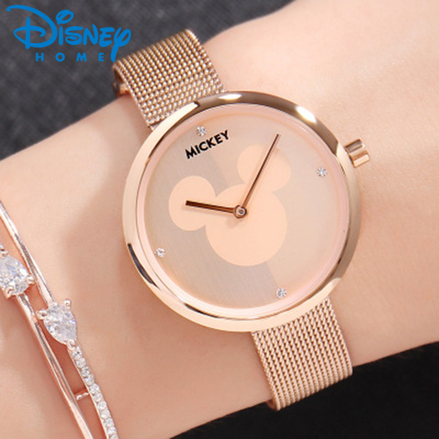 Dinsey Mickey Mouse Watches Women Luxury Women Fashion Simple Watches Ladies Wat