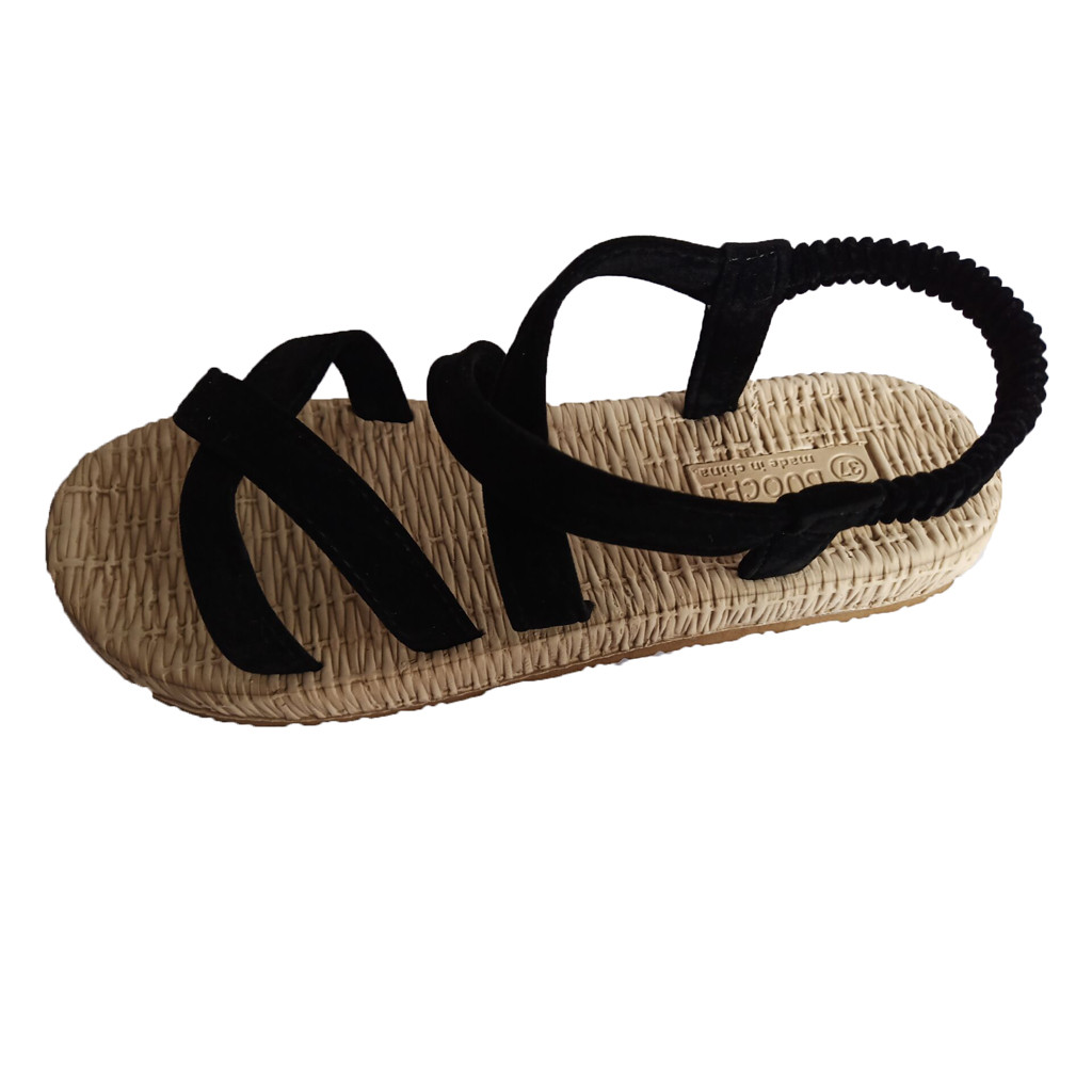 SAGACE Womens Flat With Cross Straps Open Toe Sandals 2019 Hollow Elastic Slippers Ladies Shoes Sexy High Quality Summer ShoesSAGACE Womens Flat With Cross Straps Open Toe Sandals 2019 Hollow Elastic Slippers Ladies Shoes Sexy High Quality Summer Shoes