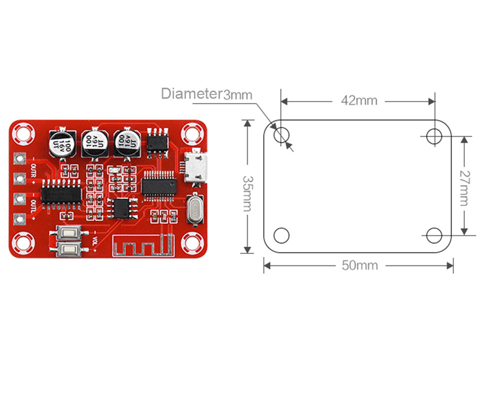 Image 3 - Bluetooth Amplifier Audio Board 5W*2 Stereo Bluetooth Decoder 4.2 Lossless Receiver Home Theater-in Amplifier from Consumer Electronics
