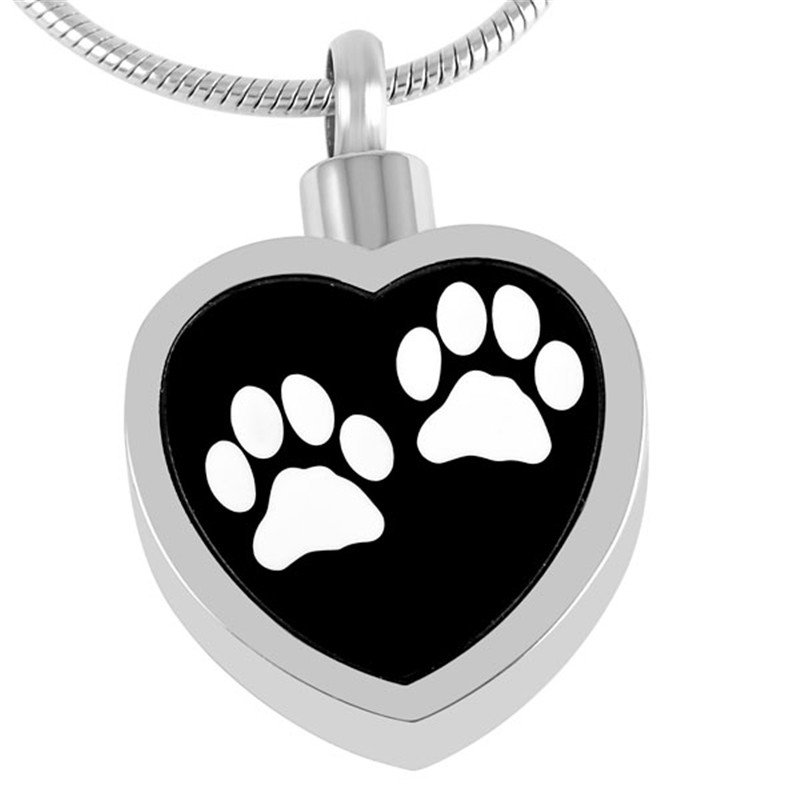 цена на IJD8247 Wholesale Pets Memorial Ashes Small Urn Pendant Keepsake,Never Fade Stainless Steel Cremation Necklace Funeral Locket