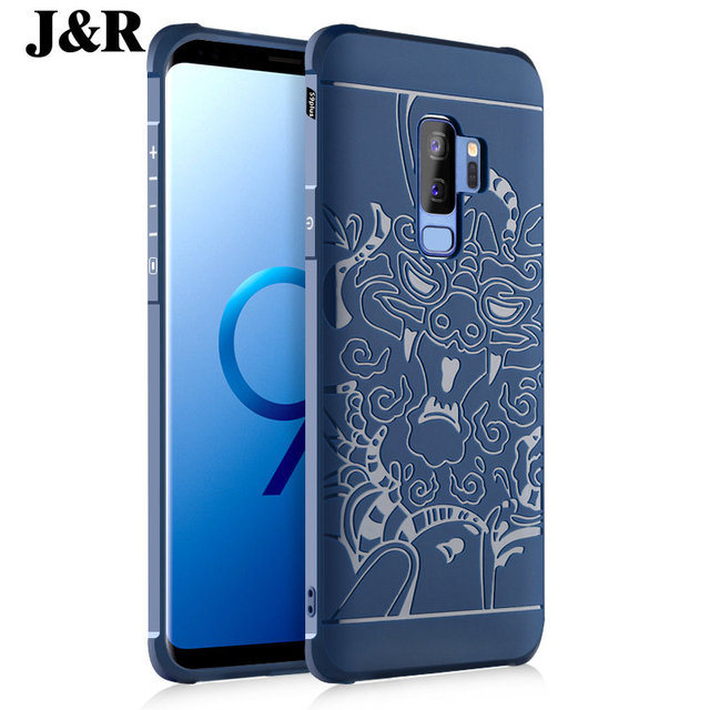 purchase cheap 593f4 930d4 US $7.8  For Samsung Galaxy S9 Plus Case Soft Silcone Cover For Samsung S 9  Plus Edge 3D Relief Pattern Anti knock Back Phone Covers-in Fitted Cases ...