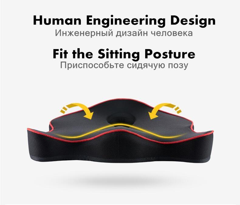 HTB1O4RSbq5s3KVjSZFNq6AD3FXai PurenLatex Memory Foam Caudal Vertebra Protect Orthopedic Chair Pillow Coccyx Cushion Pad Car Seat Mats Prevent Hemorrhoid Treat